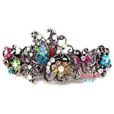 USA Butterfly Metal wedding bridal Rhinestone Crystal hair claws clips Barrette