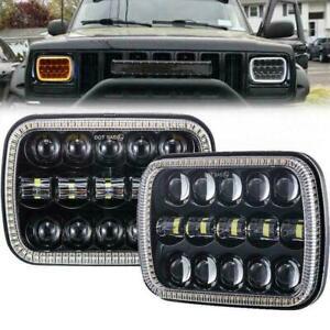 "2PCS 110W 7x6'' 5X7"" LED  Headlight Hi-Lo Beam  DRL For Ford Cherokee XJ"