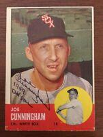 JOE CUNNINGHAM 1962 TOPPS AUTOGRAPHED SIGNED AUTO BASEBALL CARD 100 WHITE SOX