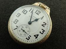 VINTAGE 16 SIZE HAMILTON OPEN FACE POCKET WATCH GRADE 992B - 1965 - KEEPING TIME