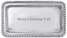 New Mariposa Merry Christmas Y'all Statement Tray in Mariposa Gift Box