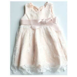 Baby Infant Lace Peach Christening Dress - Wedding - Occasion - Party - Monsoon