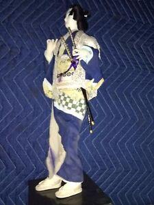 "Antique Japanese 17"" Samurai Geisha Doll RARE Supreme Condition"