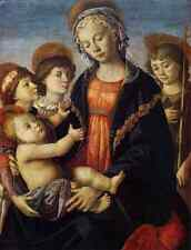 BOTTICELLI Sandro The Virgin And Child With Two Angels A4 Photo Print