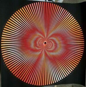 SPIRAL ZONK 1970's VINTAGE HIPPIE PSYCHEDELIC BLACKLIGHT POSTER By Bill Evans