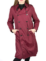 BURBERRY LONDON women's red nova check nylon trench coat | Size USA 10 / UK 12