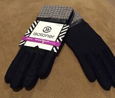 Impressions by Isotoner Dress Black  Smart touch  Womens Gloves M/L