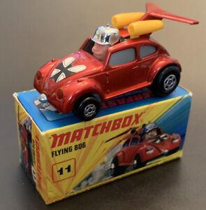 Vtg.,MATCHBOX Lesney, SUPERFAST #11 FLYING BUG VW BEETLE,1972 Base,Orig Box,1/64
