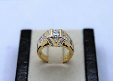 18kt Yellow Gold Diamond Channel Set Ring 2.50 TCW #10.6 grams Size 6.75