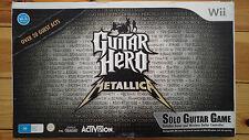 Guitar Hero: Metallica (Guitar Bundle) - Nintendo Wii - Complete AUS - RARE!