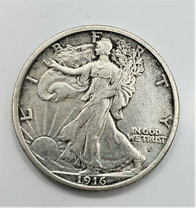 1916 D Denver Obverse Walking Liberty Silver Half Dollar 50c -You Grade It - R78