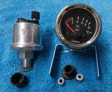 Zusatzinstrument 52mm Öldruck 10 bar Chrom für Oldtimer BMW Mercedes Opel VW neu