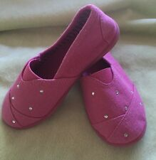 NEW Toddler Girls JUMPING BEANS Malta Fuchsia Pink Rhinestone Slip On Shoes SZ 9