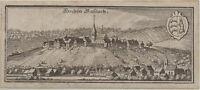Sachsenheim HOHENHASLACH Original Merian Kupferstich um 1650 Baden-Württemberg