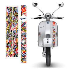 Adesivi Vespa sticker bomb Sponsor vari Strisce scontornate cropped 3 pz