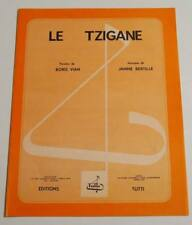 Partition sheet music BORIS VIAN : Le Tzigane * 60's JANINE BERTILLE