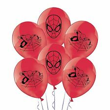 "11"" Marvel Spiderman Balloons Suphero Birthday Party Supplies Decorations 6 Pack"