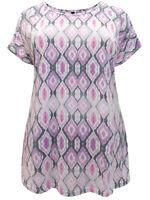 Ivans ladies top t-shirt plus size 16 18 20 22/24 26/28 30/32 pink lilac