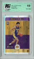 Lonzo Ball 2017 Hoops #252 Silver SP, Only 199 Made Rookie Card PGI 10