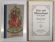 Theodor Preuß Tier- und Pflanzensagen für die Jugend 1. Auflage 1921 Märchen xz