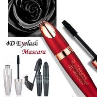 Black 4D Fiber Long Curling Eyelash Mascara Extension Waterproof Makeup Cosmetic