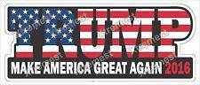 "Trump 2016 bumper sticker label decal 7x3"" white gloss premium vinyl"