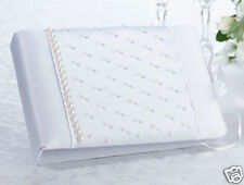 GUEST BOOK WHITE WEDDING WISHES SATIN ANNIVERSARY ENGAGEMENT 21st BAPTISM BABY