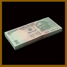 India 5 Rupees x 100 Pcs Bundle, 2009 P-94A Gandhi Unc