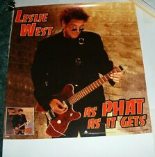 Leslie West As Phat As It Gets 1999 Promo Poster Excellent Condition Never Used