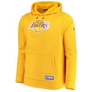 Under Armour UA Los Angeles Lakers Basketball Combine Hoodie Sweatshirt SZ M NEW