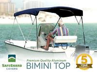 "SafeGuard Premium Bimini Top 3 Bow with Hardware 6' x 46"" x 85-90"" - Burgundy"