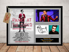 BRENDON URIE PANIC AT THE DISCO 2016 TOUR AUTOGRAPHED SIGNED PHOTO PRINT