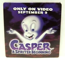Release- Button / Pin / Pinback Square 1997 Casper the Ghost Promotional for Vhs