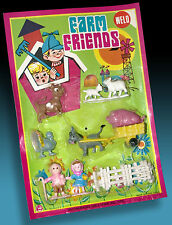 FARM FRIENDS | HONG KONG FIGUREN SET KARREN OVP BLISTERKARTE 70er FUNNY FIGURES