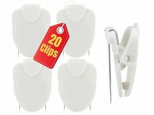 1InTheOffice Cubicle Clips, White, 20/Pack (White)