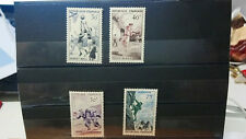 lot 4 Timbres France Sport 1956
