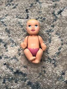 "Barbie 2002 Pregnant Midge Happy Family 2"" NEWBORN BABY GIRL DOLL blue eyes"