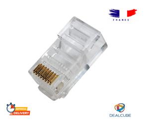 Connecteur RJ45 CAT5 CAT5e CAT6 LAN crimp connector Ethernet