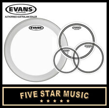"EVANS ECR RESO HEADS DRUM SKIN SET 10"" 12"" 16"" SKINS NEW w' 22"" EQ3 CLEAR BATTER"