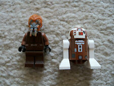 LEGO Star Wars Clone Wars - Rare Jedi Plo Koon & R7-D4 Droid - Excellent
