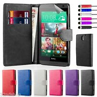 32nd PU Leather Book Wallet Case For HTC Desire 610 + Screen Protector & Stylus