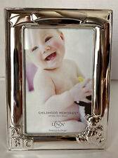 Lenox Childhood Memories Bear 4x6 Silver Plated Picture Frames