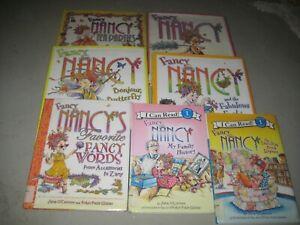 7  Fancy Nancy hardback books/ O'Connor/ Glasser/ fancy words/butterfly