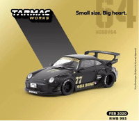 Tarmac Porsche RWB 993 Oba Bone Matte Black 1/64