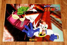 Earthworm Jim 3D / Wild 9 Rare Poster 81x58cm Playstation Ps1 Nintendo 64 N64.