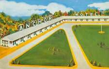 Pleasantville New Jersey Anchor Motel Birdseye View Vintage Postcard K59260