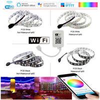 1-10m 5050 RGB 60LEDs/M LED Strip Light Flexible+Wireless WIFI Remote/12V Power