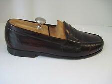 Cole Haan Nke Air Burgundy Gloss Leather Moc Penny Loafer Men's Size US 11 1/2M