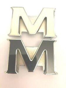 LETTER M 32 MM PIN BUCKLE UNISEX DESIGNER BELT BUCKLES FOR MEN WOMEN iBELTS UK