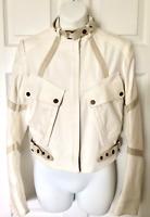 Belstaff Women's Size 38 Small Cropped Speedmaster Biker Jacket Reg $2195 NEW